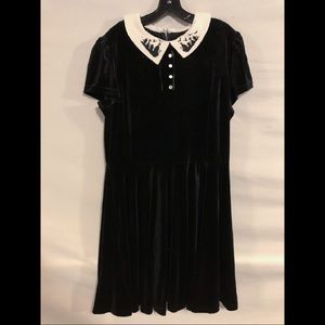 Hell Bunny Velvet Wednesday Addams Dress